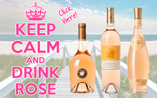 Keep Calm and drink rose