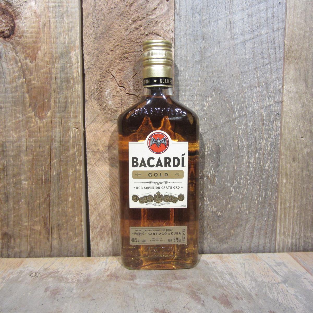 Bacardi Gold 375ml Pints (Half Size Btls)