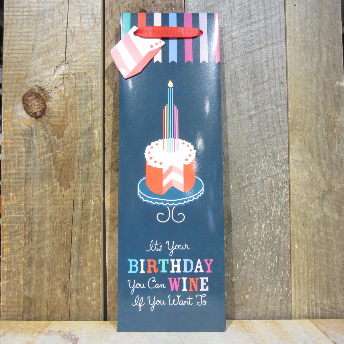 Birthday Cake Wine Gift Bag