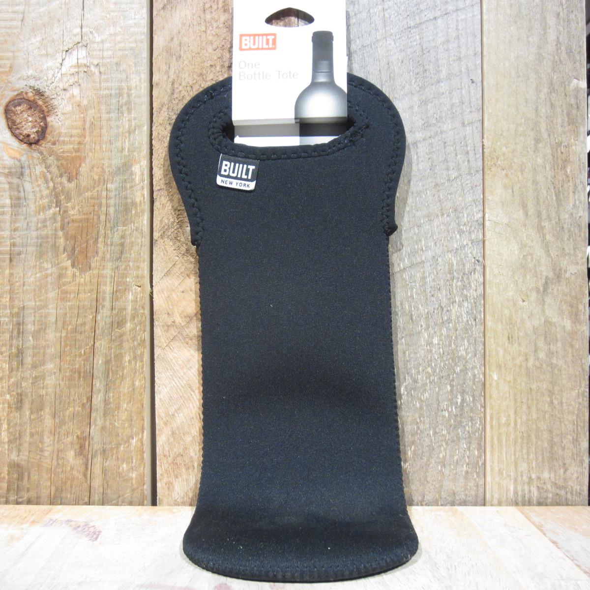 Black Neoprene Built 1 Bottle Tote