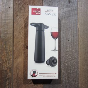 VACU VIN BLACK VACUUM WINE SAVER 3 PIECE SET