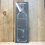 Chalkboard Bottle Crest Wine Bag