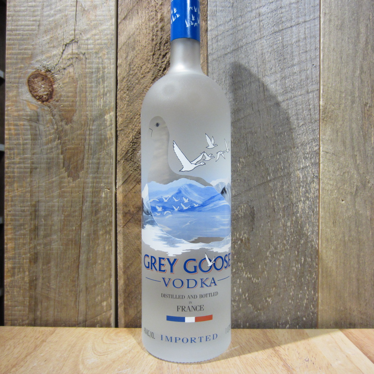 how to cut a grey goose bottle
