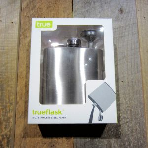 6 OZ STAINLESS STEEL FLASK WITH FUNNEL
