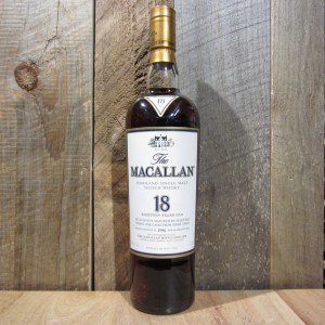 MACALLAN 18 YEAR SHERRY CASK SINGLE MALT 750ML