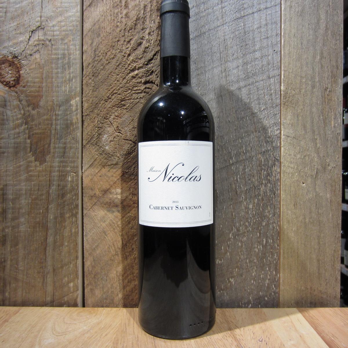 Maison nicolas cabernet sauvignon 750ml oak and barrel for Maison nicolas