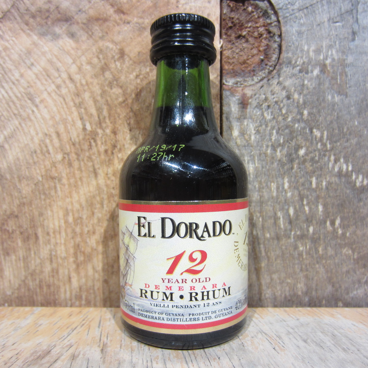 El Dorado 12 Year Rum 50ml (Miniature)