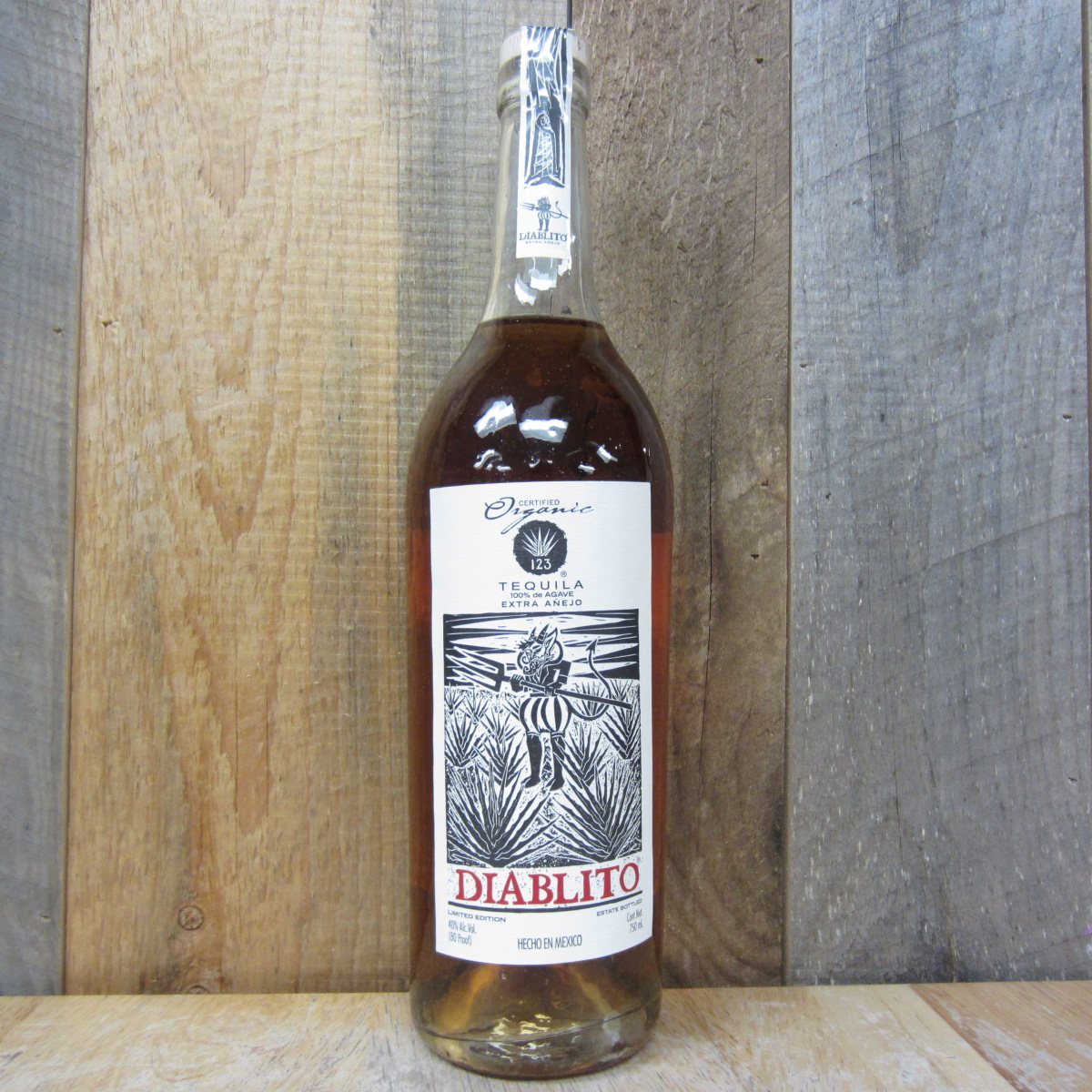 123 Diablito Extra Anejo Organic Tequila 750ml