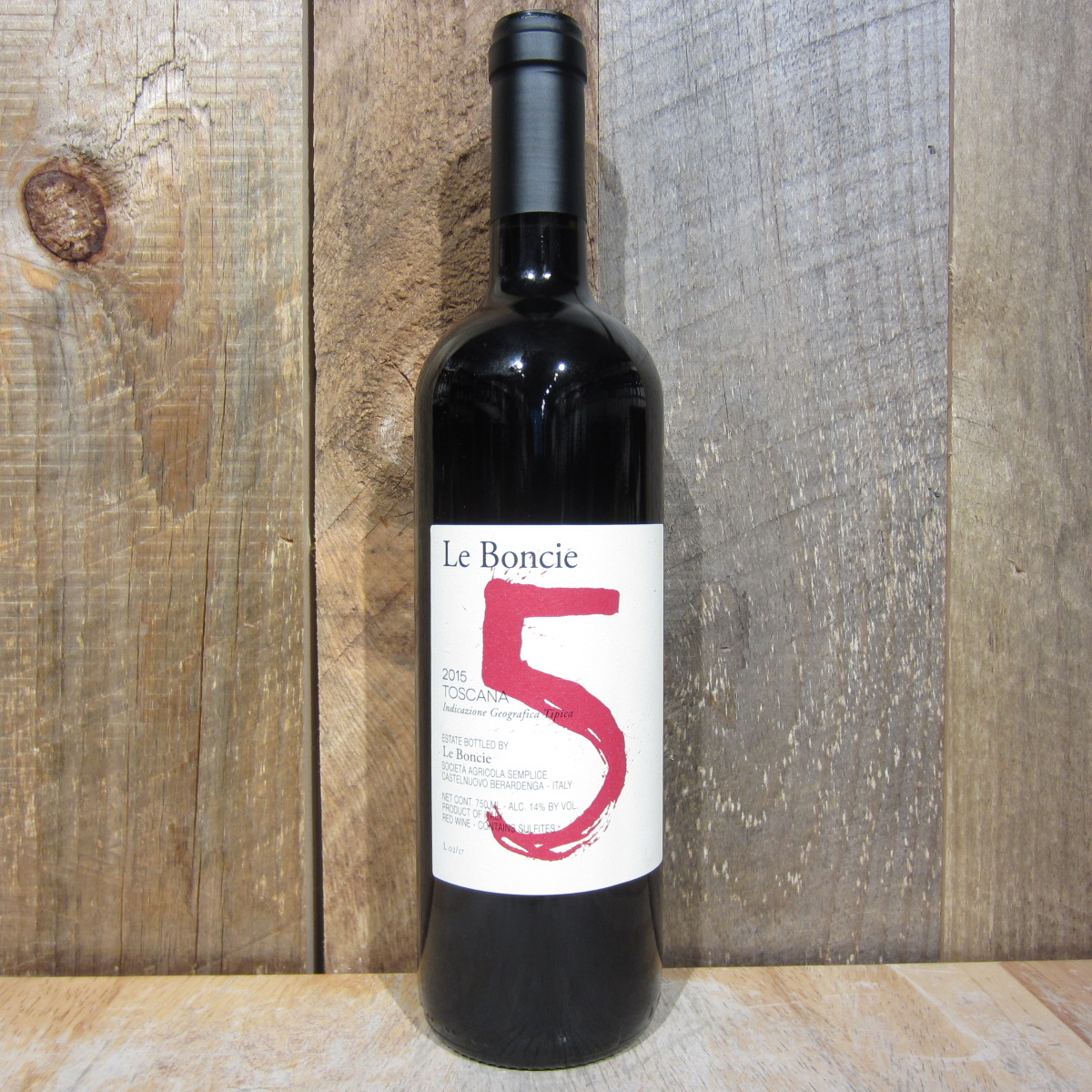 Le Boncie Cinque Rosso di  Toscana 2015 750ml