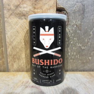 BUSHIDO WAY OF THE WARRIOR GINJO SAKE 180ML (CAN)