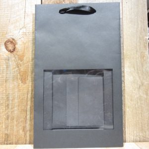 BLACK KRAFT 2 BOTTLE WINDOW BAG