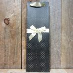 ELEGANT BLACK WITH WHITE DOTS GIFT BAG