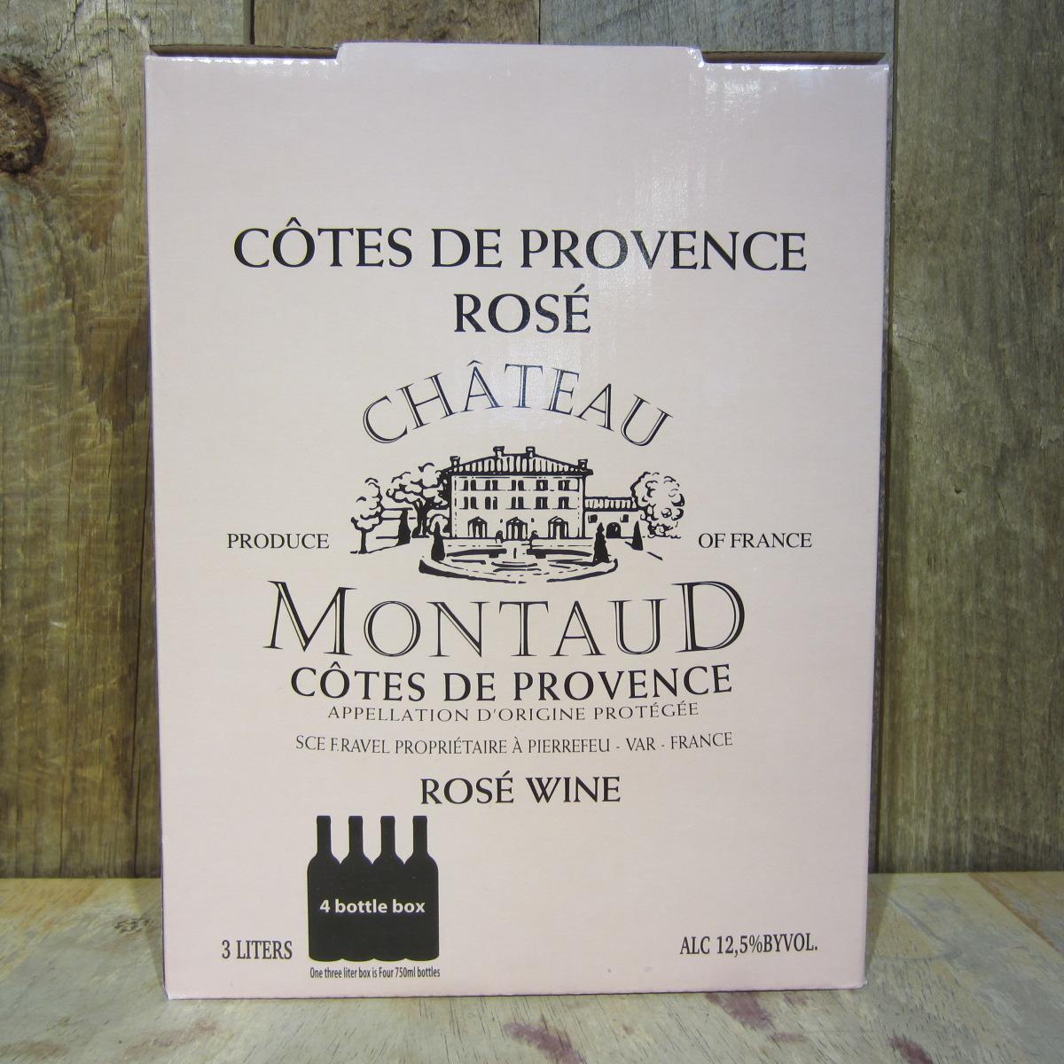 Chateau Montaud Cotes de Provence Rose 2018 Box 3L