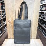 4 BOTTLE WOVEN REUSABLE BLACK TOTE BAG