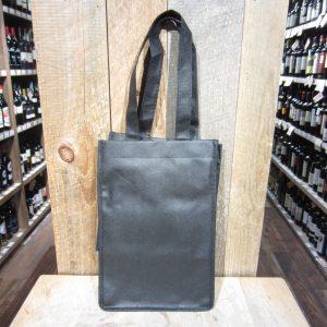 4 BOTTLE BLACK WINE TOTE BAG