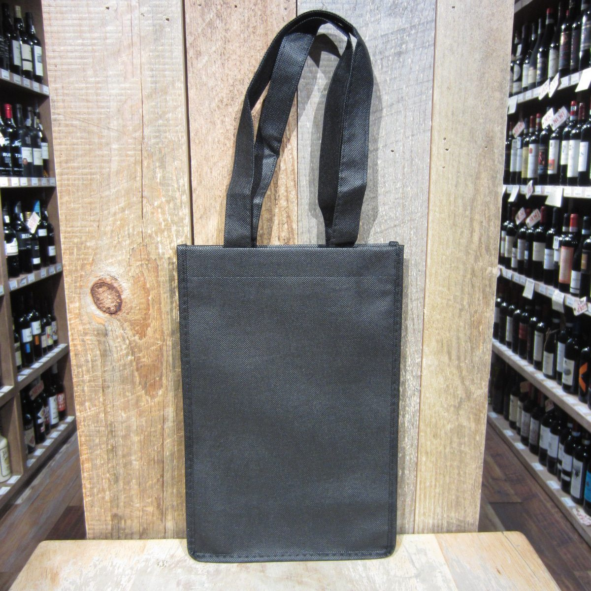 2 Bottle Black Wine Tote Bag