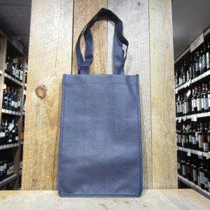 4 BOTTLE BLUE WINE TOTE BAG