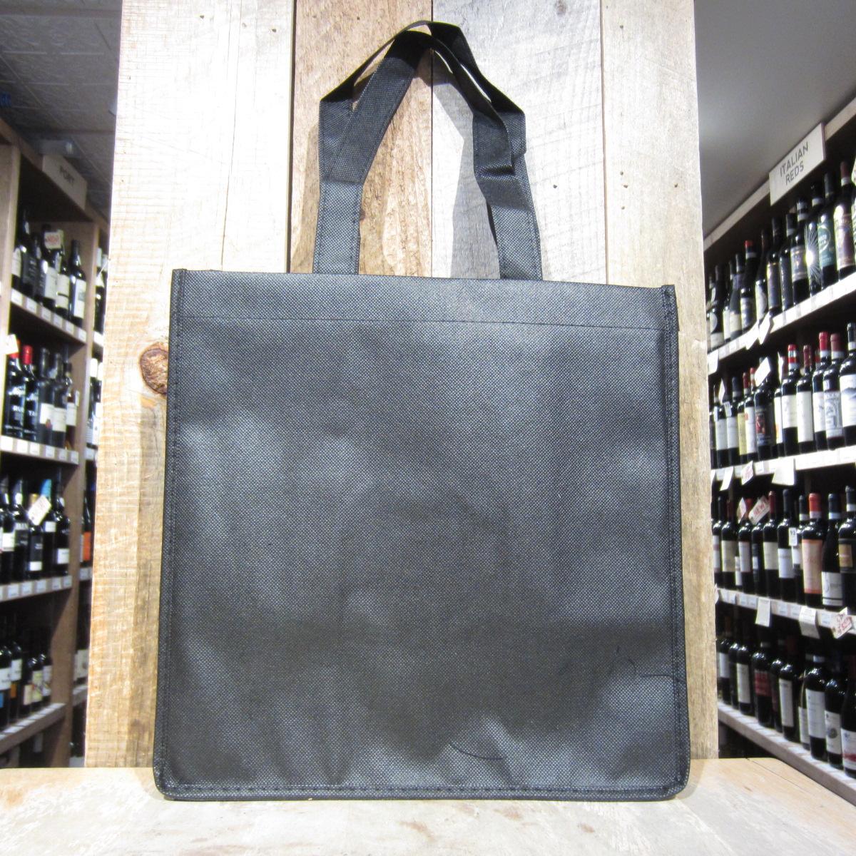 6 Bottle Black Wine Tote Bag