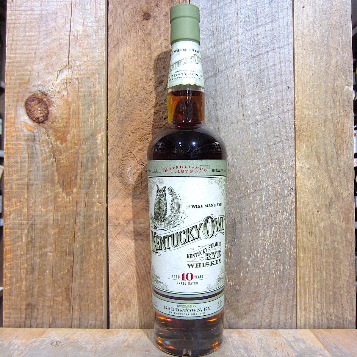 Kentucky Owl Straight Rye Whiskey 10yr Batch 3 750ml