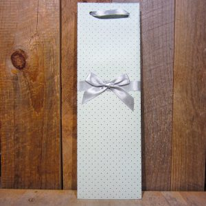 Elegant Blue with Silver Dots Gift Bag