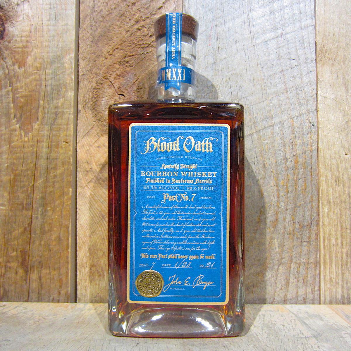 Blood Oath Bourbon Pact No. 7 750ml