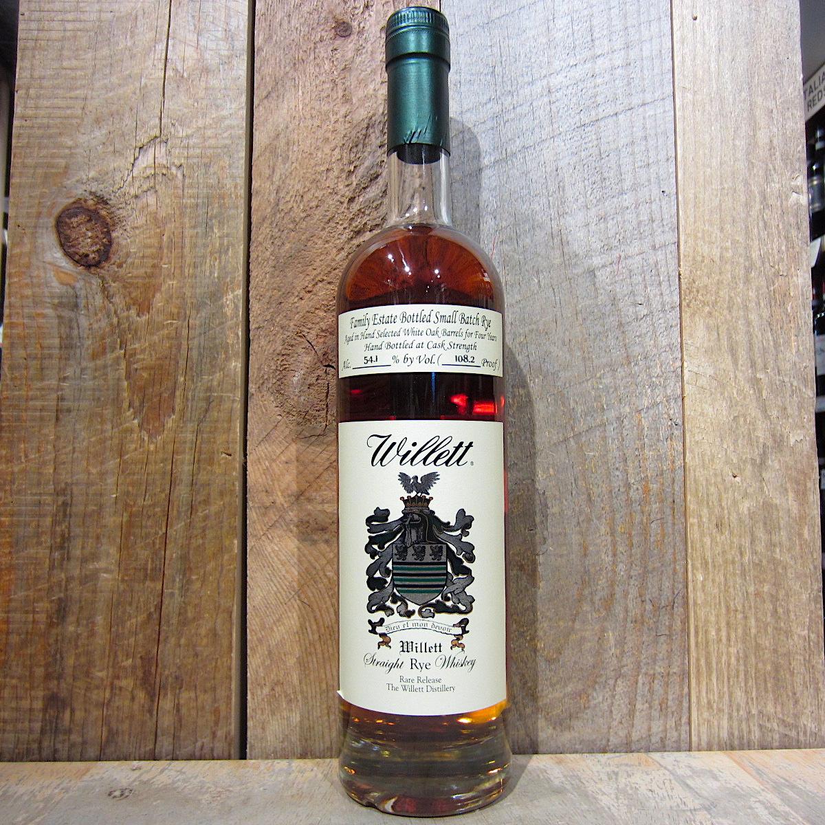 Willett 4yr Straight Rye Whiskey 108.2 Proof 750ml